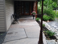Flagstone Front Walk with Seating Area