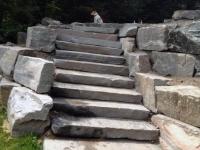 Stone Stairs to Terrace