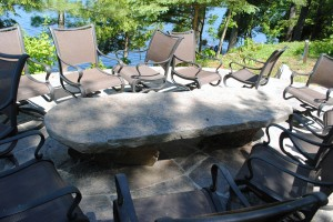 Stone Patio Table